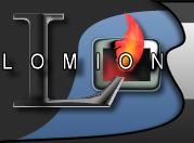 logo firmy Lomion - kominki pomorskie, wkłady kominkowe